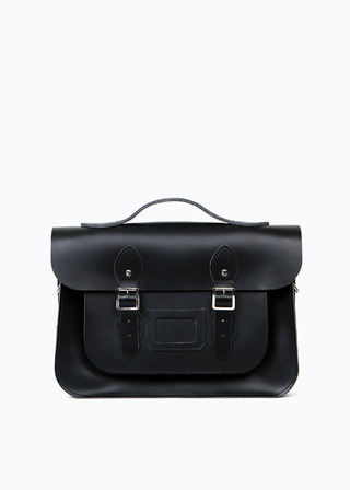 "LEATHER SATCHEL 15"" (black/3way) B#LS1503"