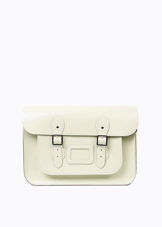 "LEATHER SATCHEL 15"" (IVORY) B#LS1501"