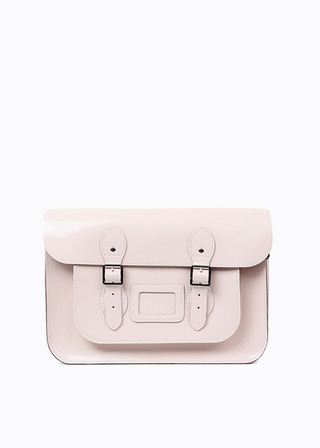 "LEATHER SATCHEL 15"" (PINK) B#LS1501"