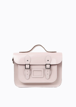 "LEATHER SATCHEL 13"" (PINK/strap) B#LS1302"